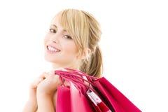 Comprador feliz Foto de archivo libre de regalías