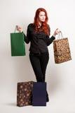 Comprador joven de moda. Imágenes de archivo libres de regalías