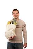 Comprador masculino de la tienda de comestibles Imagen de archivo libre de regalías