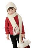 Comprador minúsculo del invierno Imagen de archivo libre de regalías