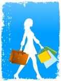 Comprador y bolsos Fotografía de archivo libre de regalías