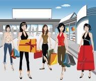 Compradores Stock de ilustración