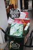 COMPRADORES DE BLACK FRIDAY EN COPENHAGUE DINAMARCA Fotografía de archivo libre de regalías