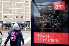 COMPRADORES DE BLACK FRIDAY EN COPENHAGUE DINAMARCA Fotografía de archivo