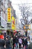 Compradores de Chinatown Foto de archivo libre de regalías