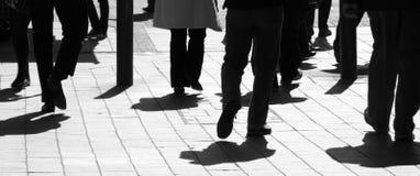 Compradores de la ciudad Imagen de archivo