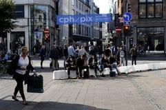 COMPRADORES EN COPENHAGUE Imagen de archivo