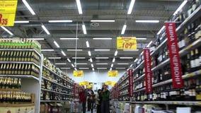 Compradores en supermercado metrajes