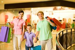 Compradores felices Foto de archivo libre de regalías