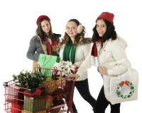 Compradores felices Fotografía de archivo libre de regalías