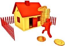 Comprando a casa ilustração stock