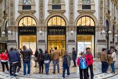 Comprando em Milão, Itália Foto de Stock Royalty Free