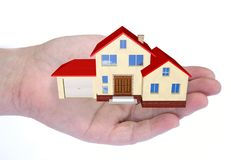 Comprando ou vendendo bens imobiliários Imagens de Stock Royalty Free