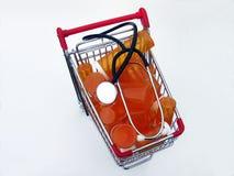 Comprar cuidados médicos (vista superior) Fotos de Stock