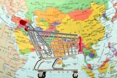 Compras Asia Foto de archivo libre de regalías