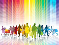 Compras coloridas Imagen de archivo