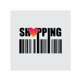 Compras, compra del amor, ejemplo del vector Fotos de archivo
