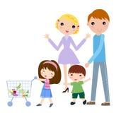 Compras de la familia stock de ilustración