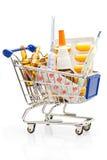 Compras de la farmacia Foto de archivo libre de regalías