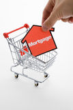 Compras de la hipoteca Imagen de archivo libre de regalías
