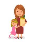 Compras de la madre y del bebé Nutrición apropiada del infographics del concepto Fotos de archivo libres de regalías