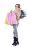 Compras de la muchacha Fotos de archivo libres de regalías