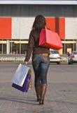 Compras de la mujer Foto de archivo
