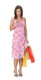 Compras de la mujer Imagen de archivo libre de regalías