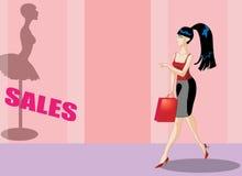 Compras de la mujer de Bsuiness Foto de archivo