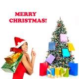 Compras de la Navidad imágenes de archivo libres de regalías