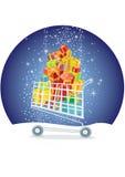Compras de la Navidad Foto de archivo libre de regalías