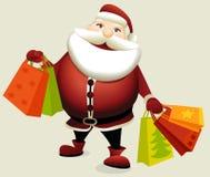 Compras de la Navidad, idea para su diseño Imagenes de archivo