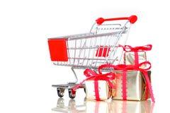 Compras de la Navidad, idea para su diseño Imagen de archivo libre de regalías