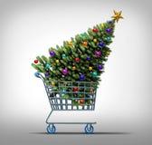 Compras de la Navidad, idea para su diseño ilustración del vector