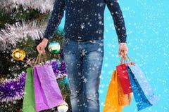 Compras de la Navidad, idea para su diseño Fotos de archivo