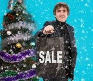Compras de la Navidad, idea para su diseño Foto de archivo