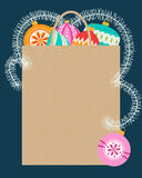 Compras de la Navidad, idea para su diseño Foto de archivo libre de regalías