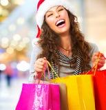 Compras de la Navidad. Ventas Foto de archivo