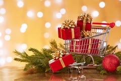 Compras de la Navidad y del Año Nuevo Foto de archivo