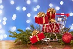 Compras de la Navidad y del Año Nuevo Imagen de archivo