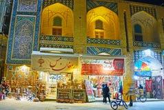 Compras de la tarde en Kermán, Irán Foto de archivo