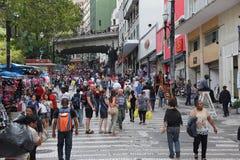 Compras de Sao Paulo Imágenes de archivo libres de regalías