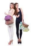 Compras del afte de los mejores amigos Imagen de archivo libre de regalías
