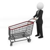 Compras del hombre de negocios Imagen de archivo