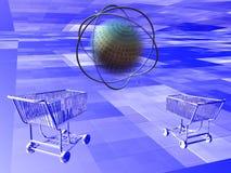 Compras del Internet Imagen de archivo libre de regalías