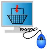 Compras del Internet stock de ilustración