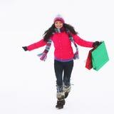 Compras del invierno Imágenes de archivo libres de regalías