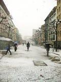 Compras del invierno Imagen de archivo libre de regalías