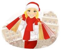 Compras del invierno Imagenes de archivo