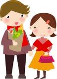 Compras del marido y de la esposa libre illustration
